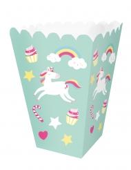 12 scatole per pop corn color menta unicorno