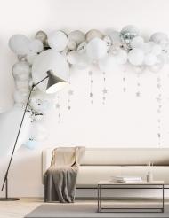 Kit arco da 70 palloncini argentati e bianchi