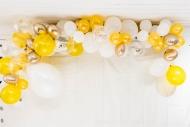 Kit arco da 70 palloncini dorati e bianchi
