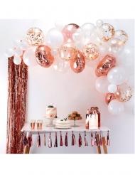 Kit arco da 50 palloncini bianchi e oro rosa
