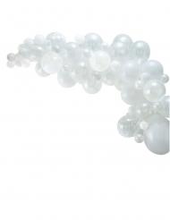 Kit arco da 70 palloncini bianchi