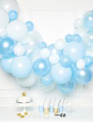 Kit arco da 70 palloncini blu e bianchi