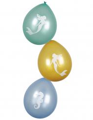 6 palloncini in lattice sirena laguna
