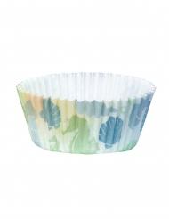 50 pirottini per cupcakes in carta sirena laguna