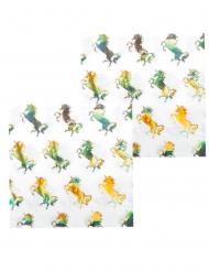 12 tovaglioli di carta unicorni scintillanti
