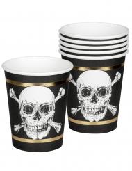 6 bicchieri in cartone pirata jolly
