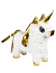 Mini pignatta unicorno bianco e oro