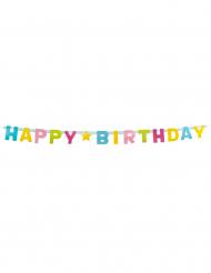 Ghirlanda con lettere multicolor Happy Birthday