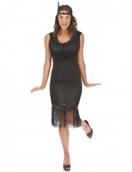 Costume Charleston nero grandi taglie per donna