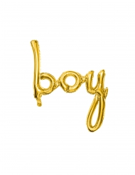 Palloncino alluminio boy color oro