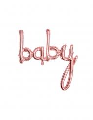 Palloncino alluminio baby color oro rosa