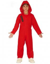 Costume tuta rossa da ladro per bambino