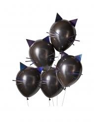 5 palloncini in lattice gatti neri