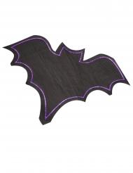 16 tovaglioli a forma di pipistrello nero e viola