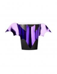 8 bicchieri in cartone pipistrelli viola