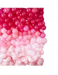 Sfondo decorativo con 210 palloncini rosa