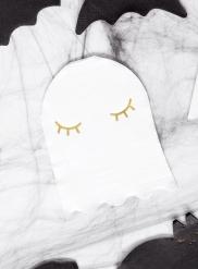 20 tovaglioli di carta fantasma bianco e oro