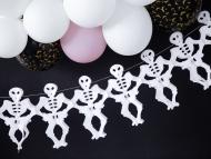Ghirlanda in carta scheletri bianchi 3 m
