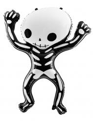 Palloncino in alluminio scheletro bianco e nero 84 cm
