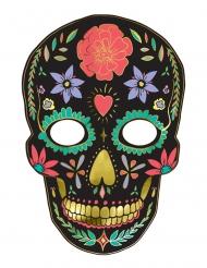 Maschera in cartone Dia de los Muertos nera