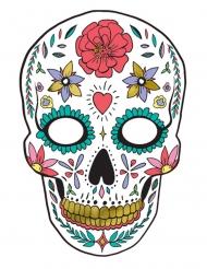 Maschera in cartone Dia de los muertos