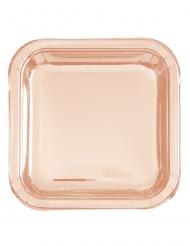 8 Piattini qudrati oro rosa