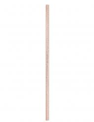 10 Cannucce in cartone rosa dorato 21 cm