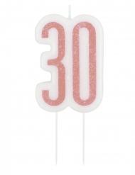Candelina di compleanno 30 anni rosa