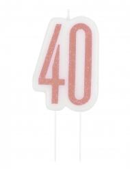 Candelina di compleanno 40 anni rosa