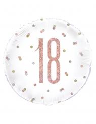 Palloncino in alluminio 18 bianco e rosa