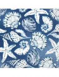 16 tovaglioli di carta coralli blu