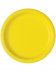 20 piattini in cartone gialli 18 cm