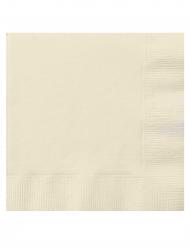20 Tovagliolini in carta avorio 25x25 cm