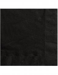 20 Tovagliolini in carta neri 25x25 cm