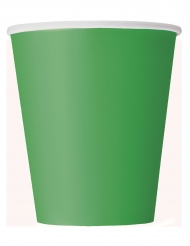 8 bicchieri in cartone verde