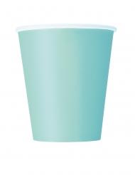 8 bicchieri in cartone color menta