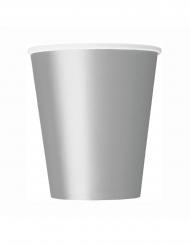 8 Bicchieri in cartone argento