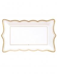 4 vassoi in cartone gold bianco e oro