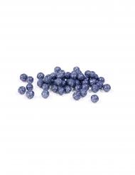 Mini palline blu scuro con brillantini