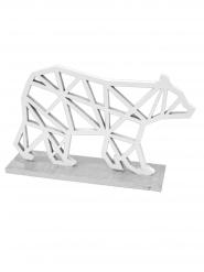 Orso polare stile origami argento