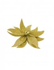 Stella di Natale oro con brillantini e campanelli