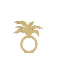 2 portatovaglioli in legno palma oro