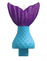 Candelina coda da sirena blu e viola