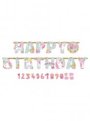 Ghirlanda personalizzabile Happy Birthday unicorno magico