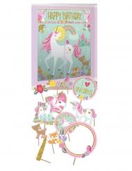 Kit photobooth e decorazione per parete unicorno magico
