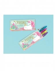 12 scatole con matite colorate unicorno magico