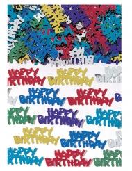 Coriandoli da tavola Happy Birthday multicolor