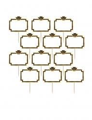 24 stecchini decorativi personalizzabili anni '20