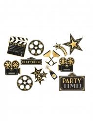 12 decorazioni in cartone Hollywood