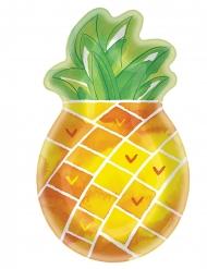 8 piatti a forma di ananas 27 cm